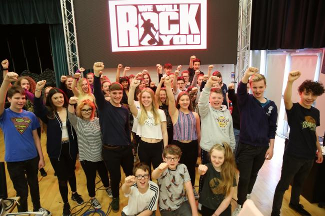 Clydeview Academy school show We Will Rock You.
