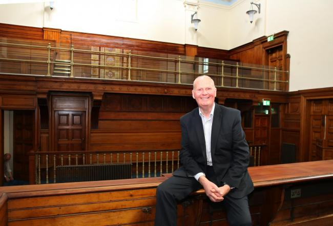 Refurbishment of old District Court in Greenock Municipal Buildings complete. Pictured is Councillor Michael McCormick, convener of environment and regeneration.