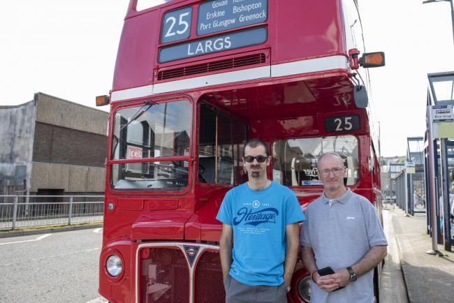 Iconic Routemaster bus back in Greenock 34 years on from last visit