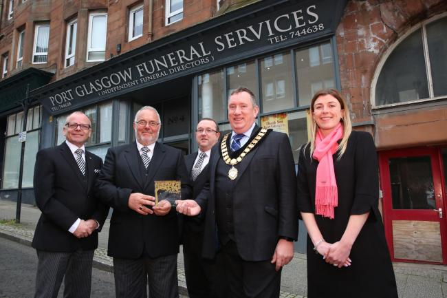 Port Glasgow Funeral Services award.