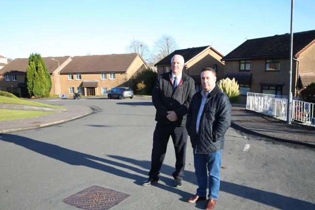 Ronnie Millar from Gateside Residents' Association with Councillor Tommy McVey.