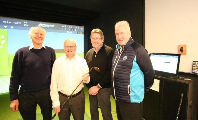 Gourock Golf Club plans for 2020. From left, outgoing club captain Ian Macnaughton, general manager Allan Warwick, new captain Neil Beaton, and club member Gordon Crae, who also represents Scottish Golf.