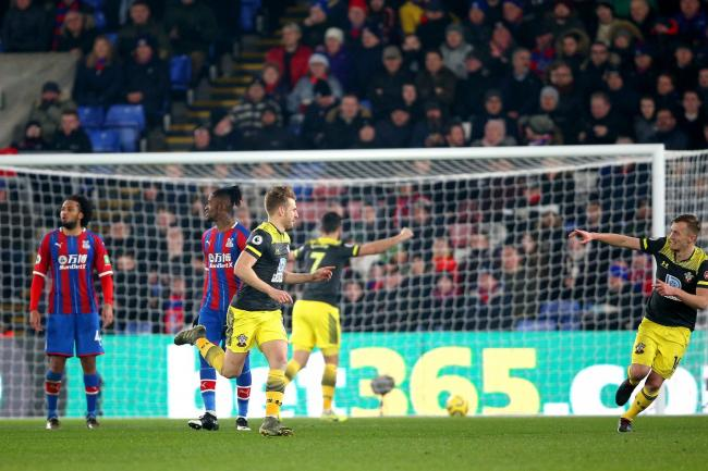Southampton's Stuart Armstrong (third left) scored his second goal of the season in the 2-0 win at Crystal Palace