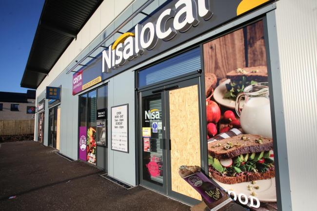 Nisa Local Nisalocal, Greggs and Domino's Ravenscraig. Attempted break in..