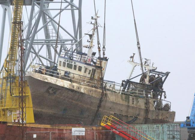 Trawler Argo K Dales Marine, Greenock.