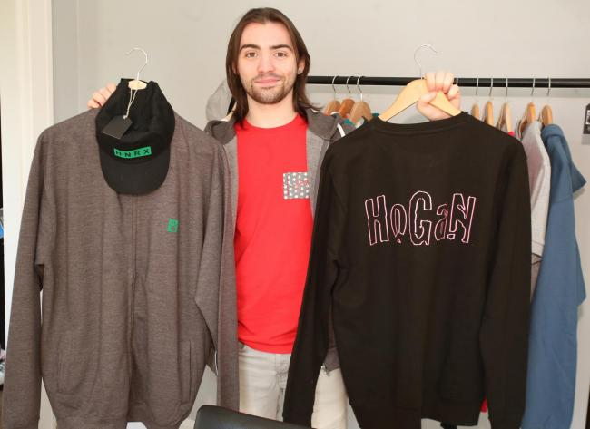 Max McVey manufacturing Hogan clothing Hogan Rox clothing range..
