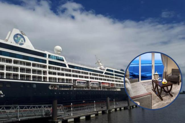 Inside the massive cruise ships docked on the River Clyde