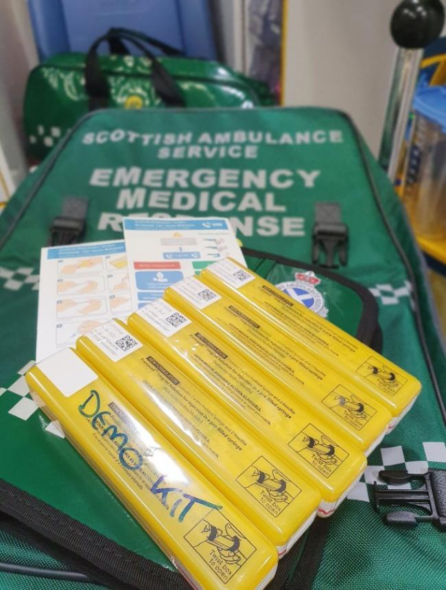 Greenock ambulance naloxone kits