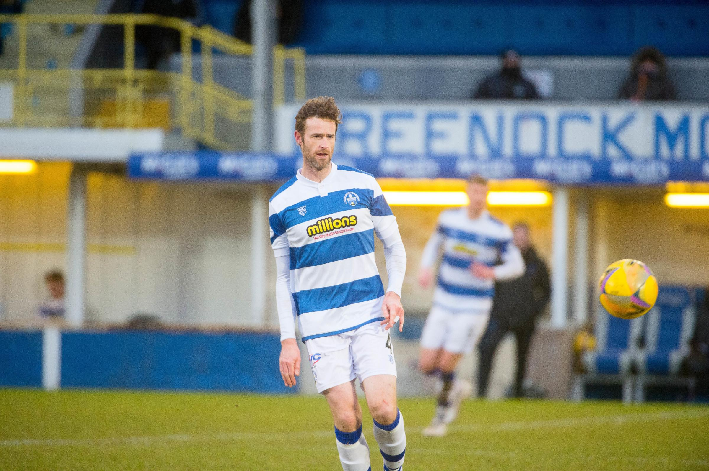 Morton defender holds hands up for losing Raith Rovers goal