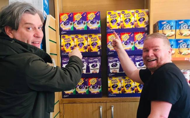 Inverclyde pantry Easter eggs