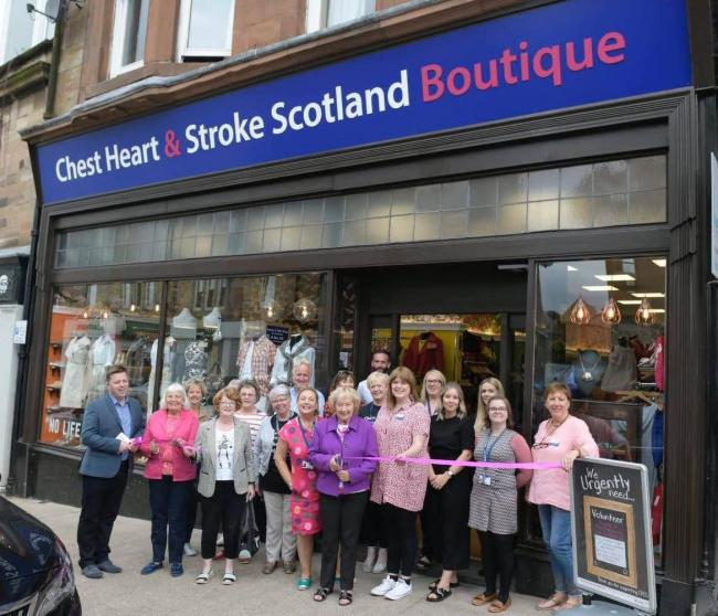 CHEST HEART STROKE SCOTLAND BOUTIQUE SHOP IN KILMACOLM