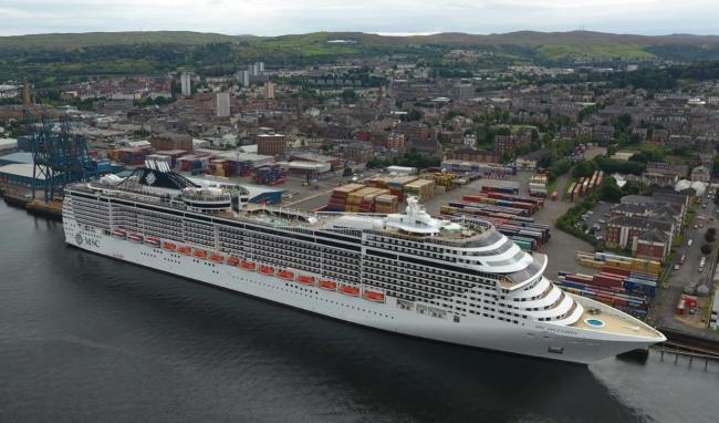 Greenock Is A Top Destination For Cruise Passengers Greenock - Cruise ships at greenock