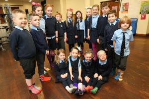 Gourock pupils step together for World Down's Syndrome Day