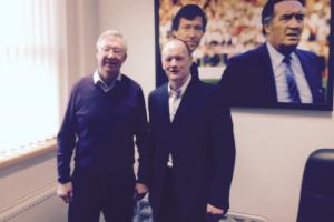 John with Sir Alex.