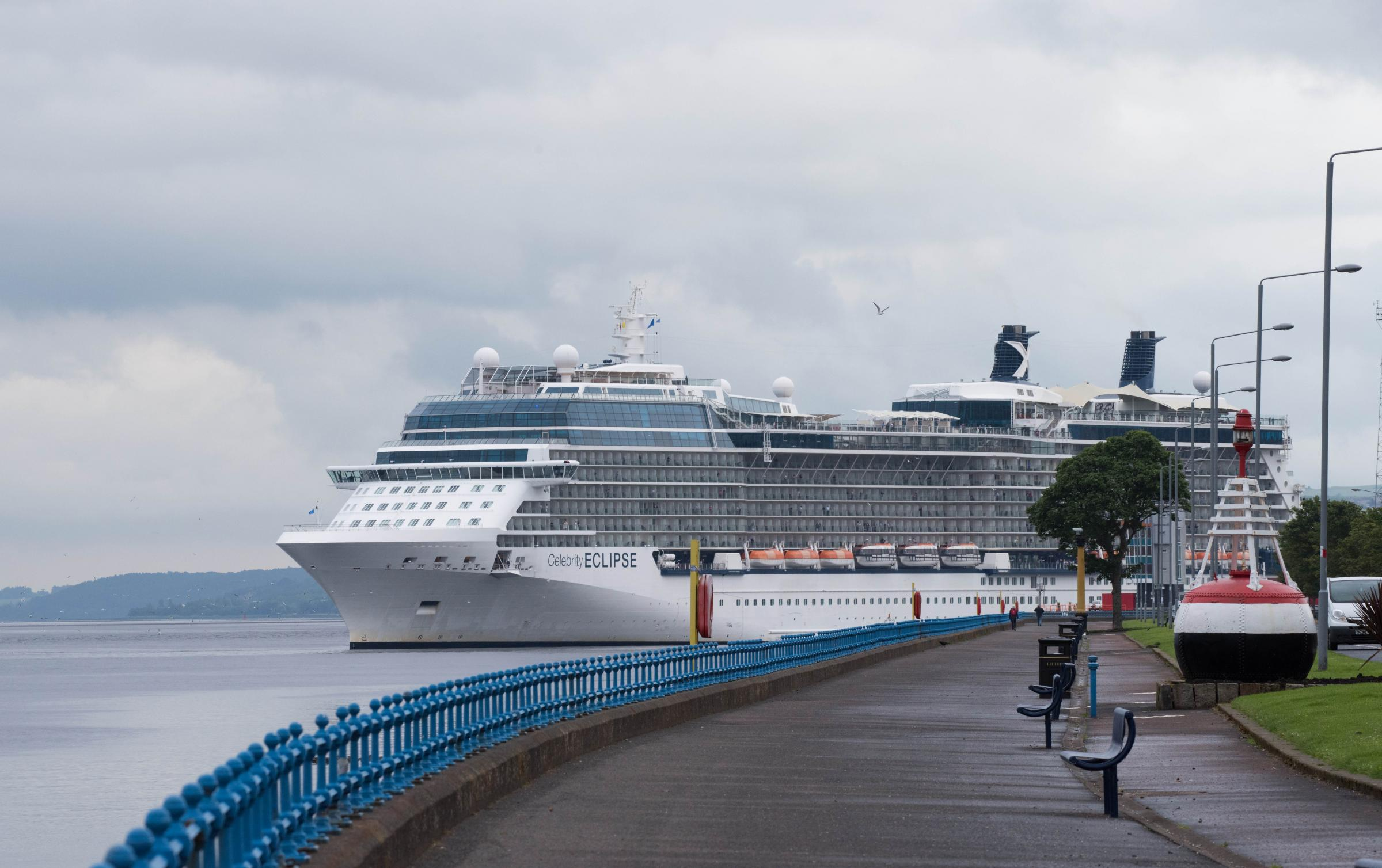 Celebrity Visitor In Greenock As Huge Cruise Ship Arrives On First - Cruise ships at greenock