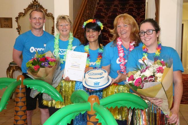 Greenock care home co-ordinator proves she has extra oomph