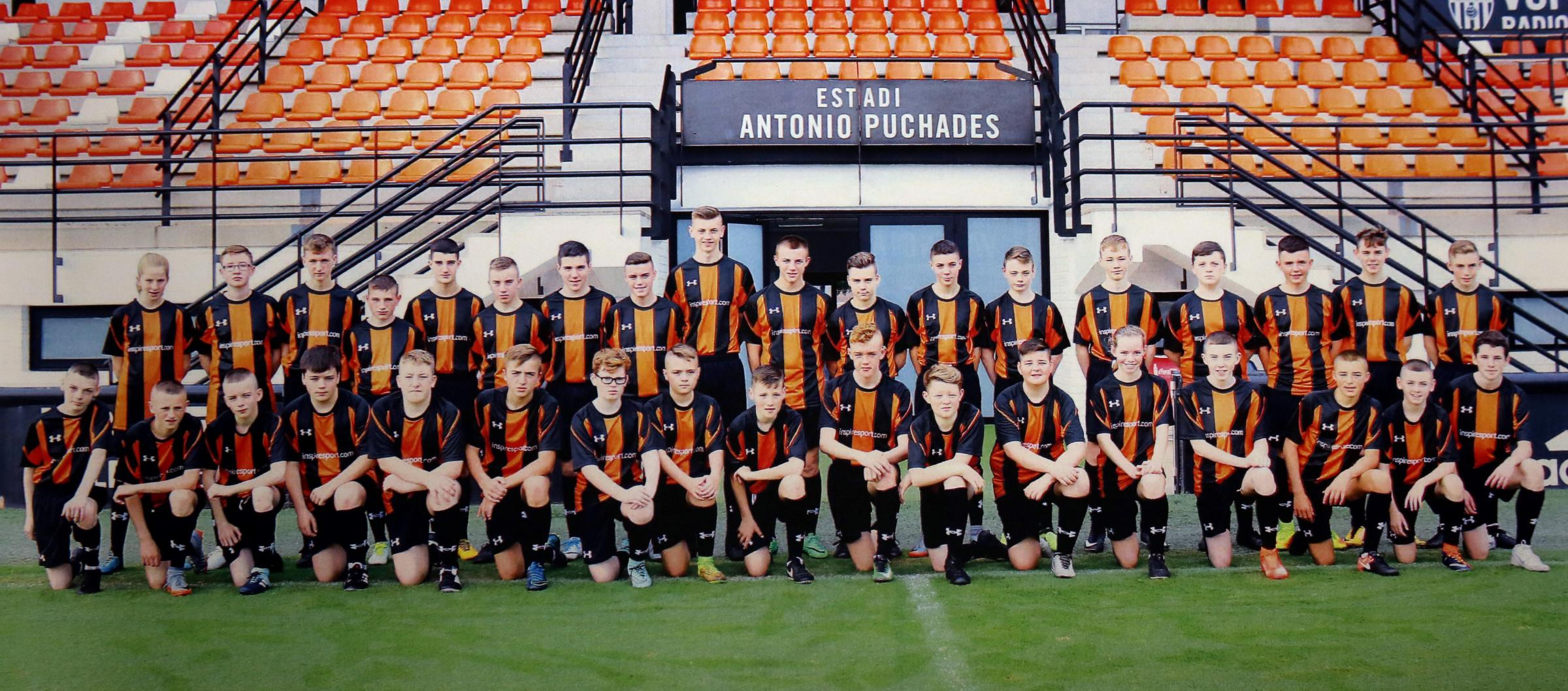 Gourock pupils given football masterclass in Valencia