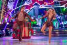 Stars dress up in festive finery for Strictly Christmas special (Guy Levy/BBC)