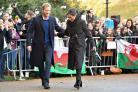 Prince Harry and Meghan Markle visited Cardiff Castle (Ben Birchall/PA)