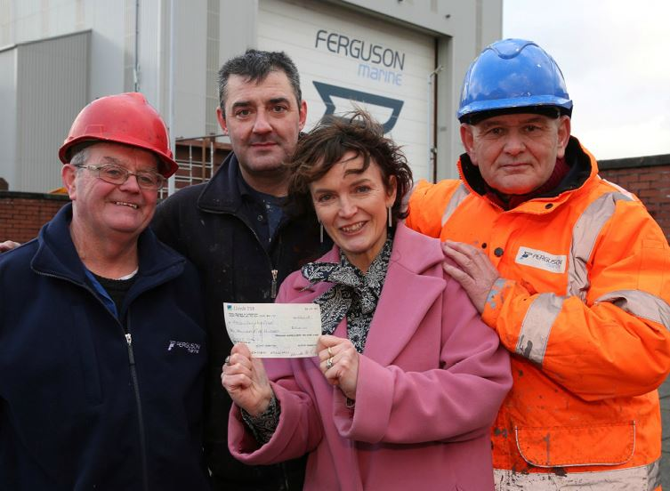 Ferguson's workers donate £2.5k to hospice