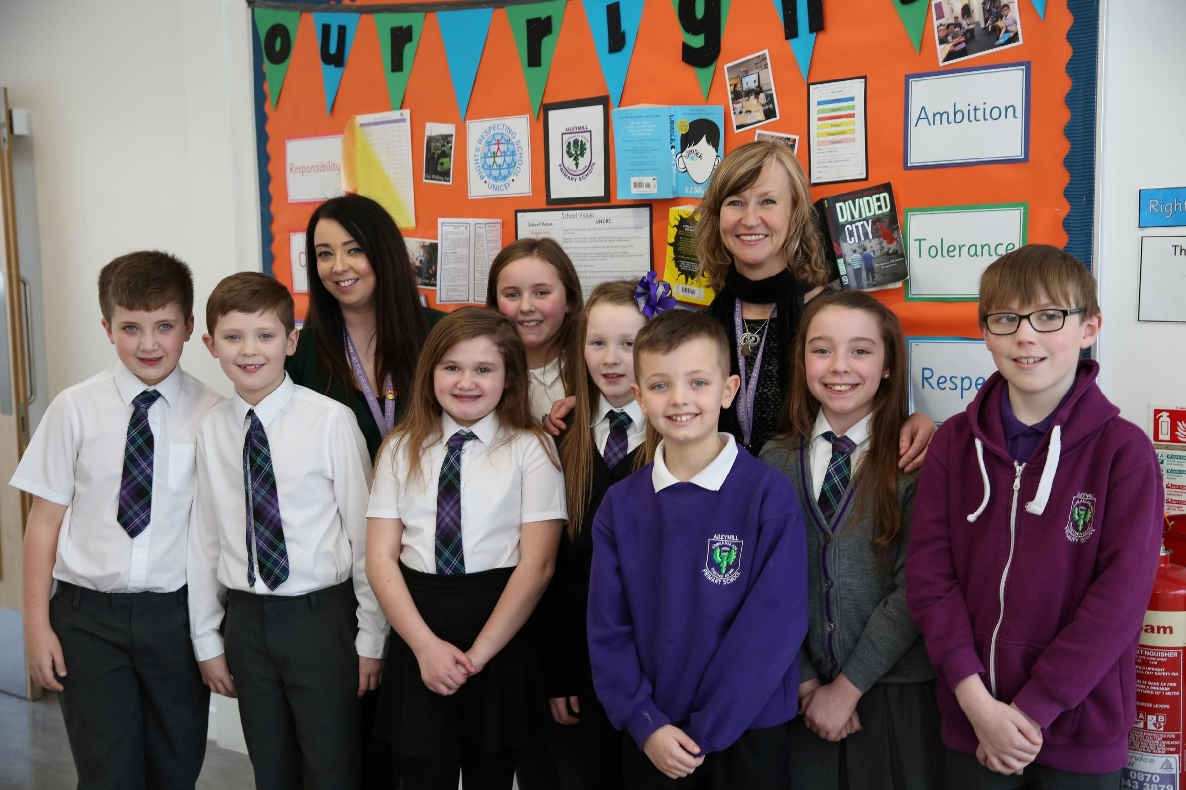 Aileymill pupils' show of respect