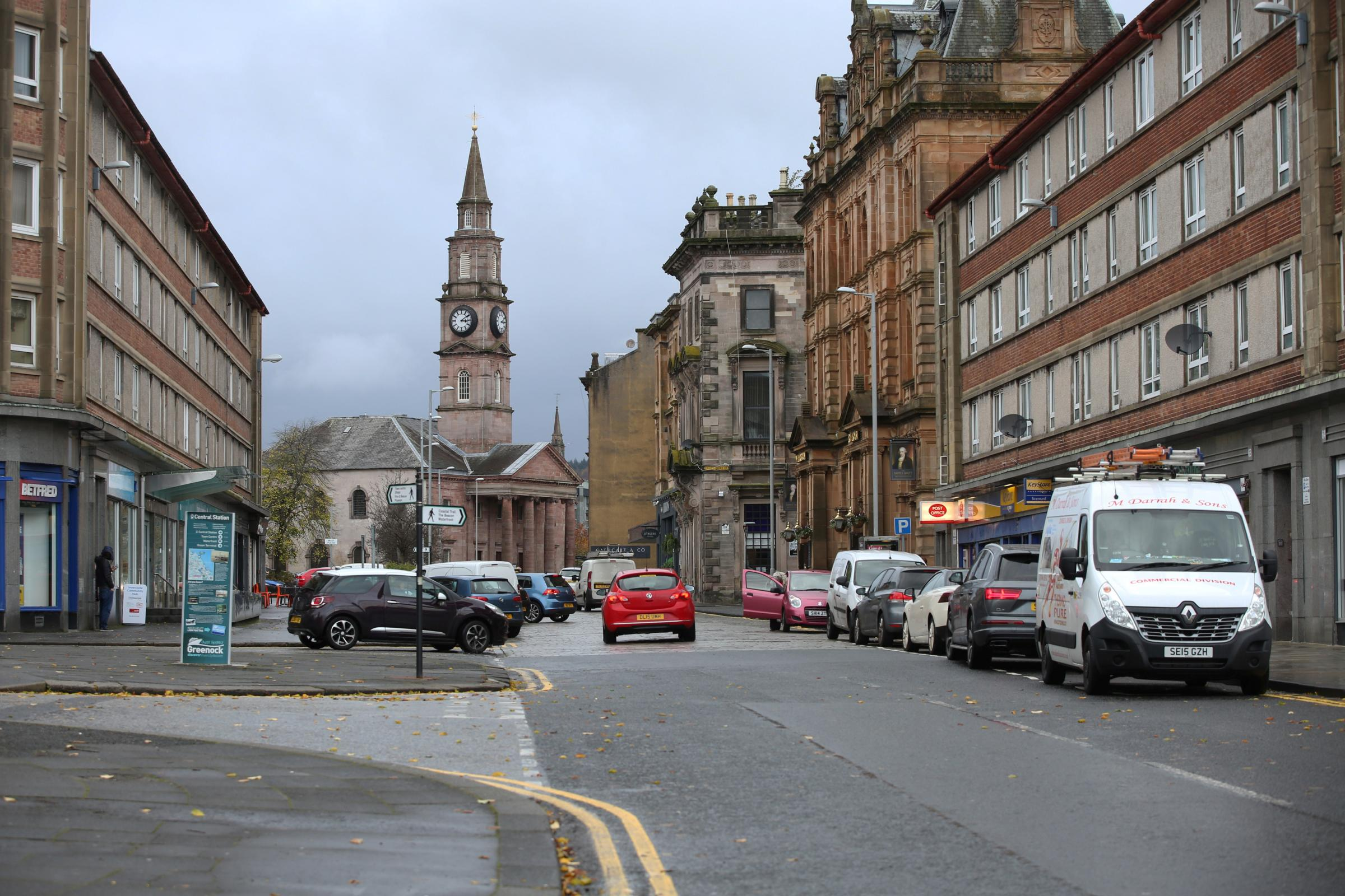 The attack happened outside Lithgows, in Cathcart Street.