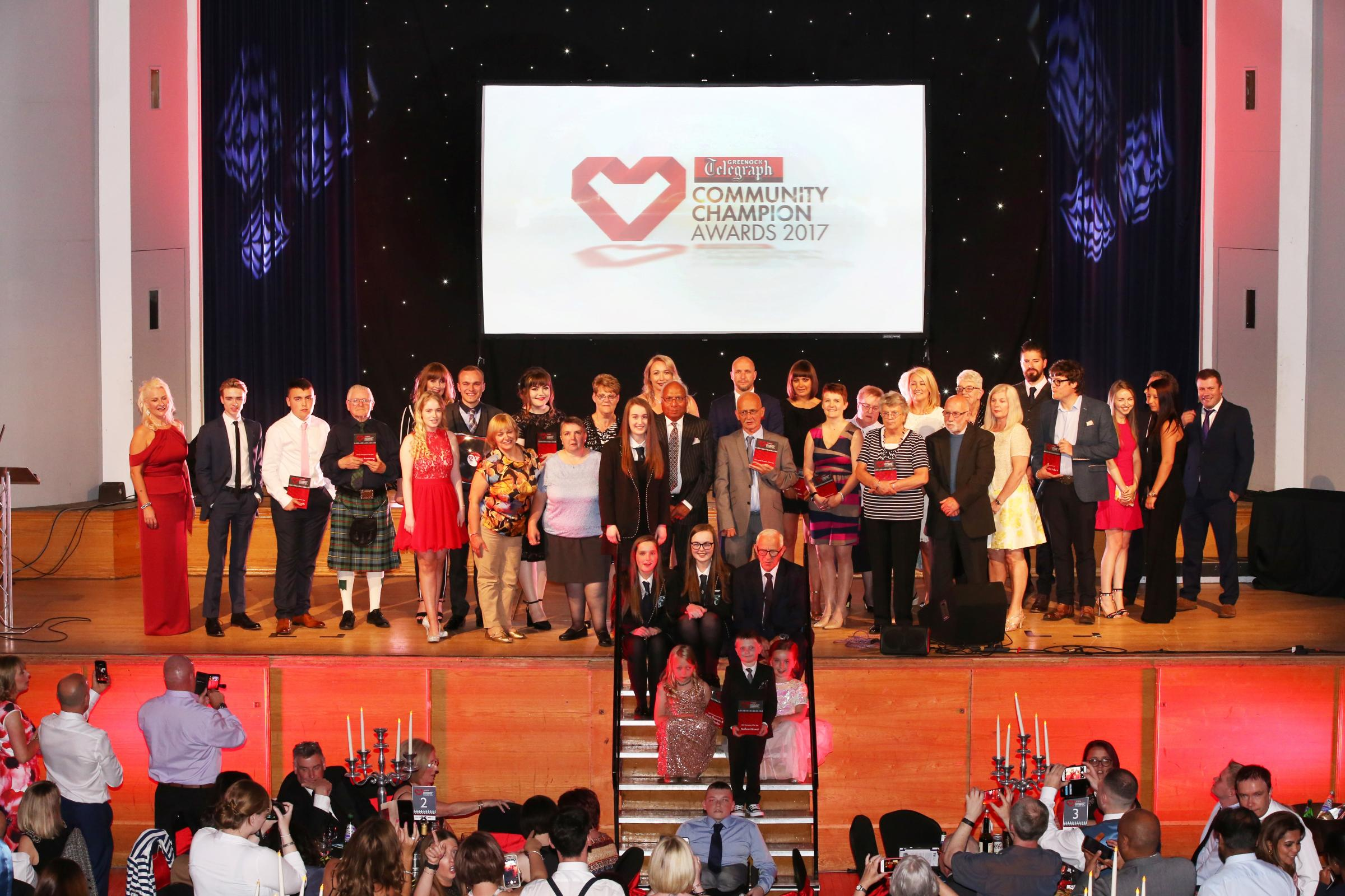 Recognise local heroes in the Greenock Telegraph's Community Champion Awards
