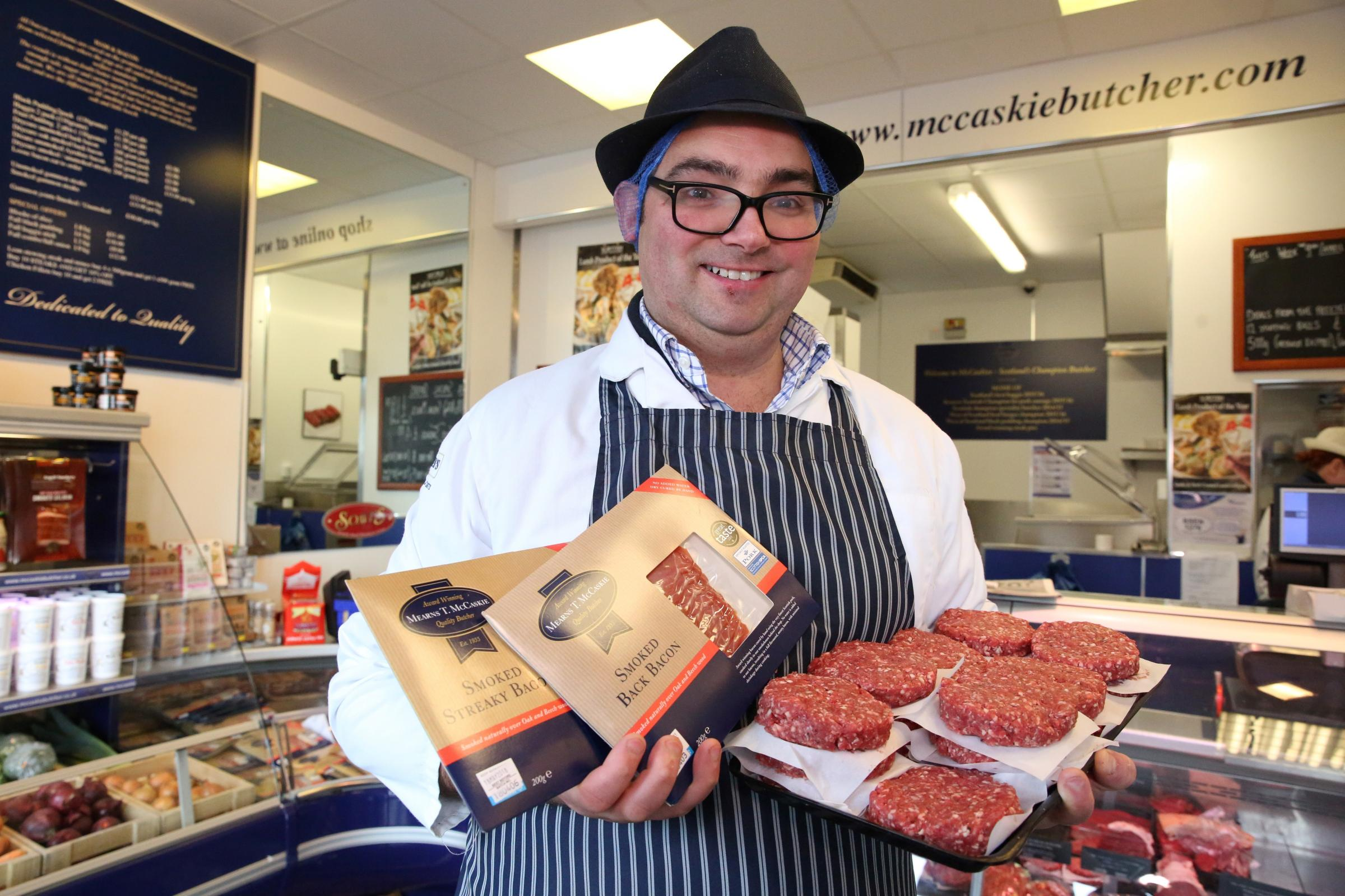 Mearns T McCaskie butchers wins award for burgers..