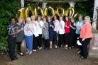 Membera of the Winning Nurses Syndicate celebrate their new fortune (Camelot/PA)