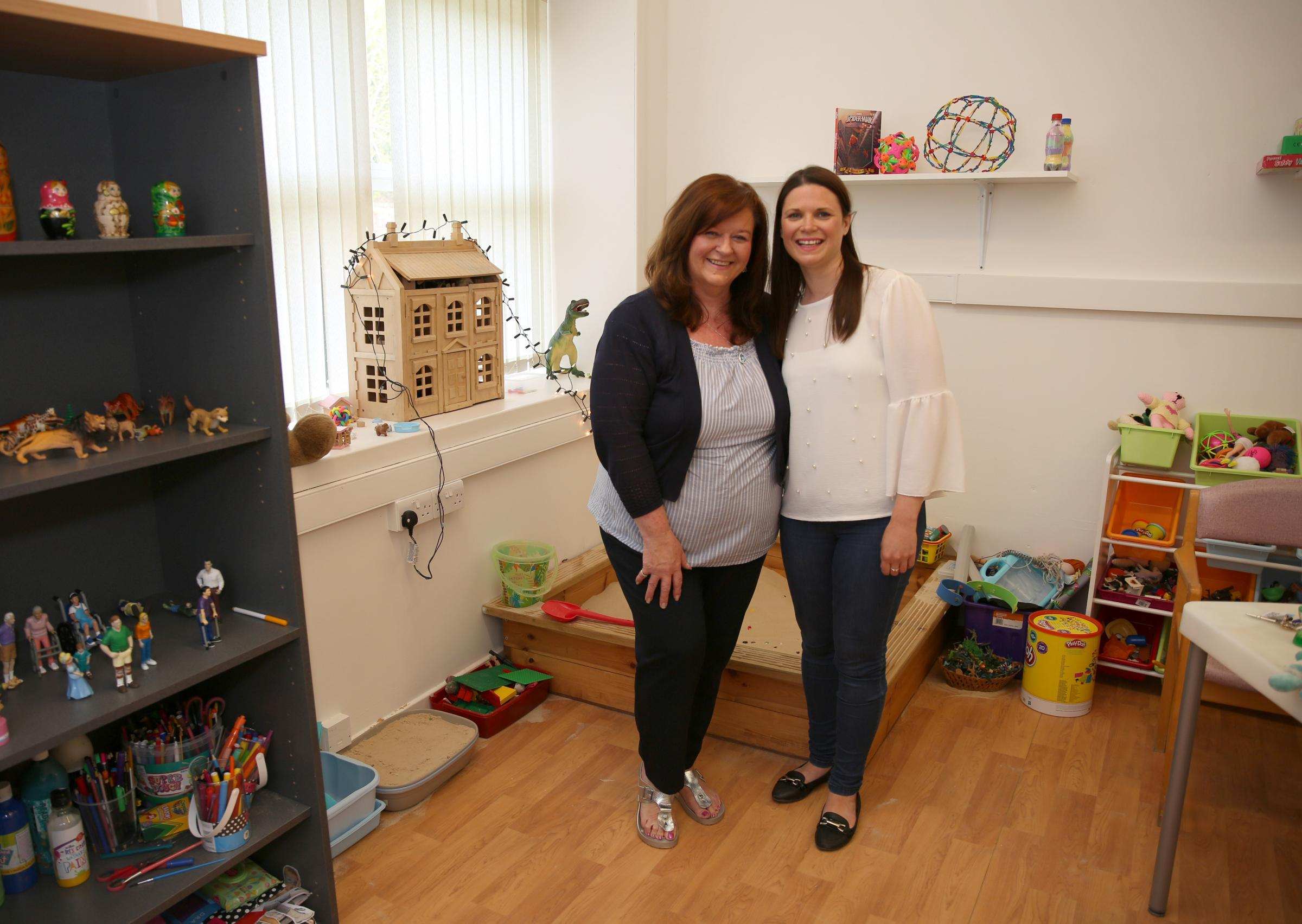 Sandra Boyle, left, who is the director of child and family therapy services at the charity, with Holly Stevenson, who is on placement with the charity.