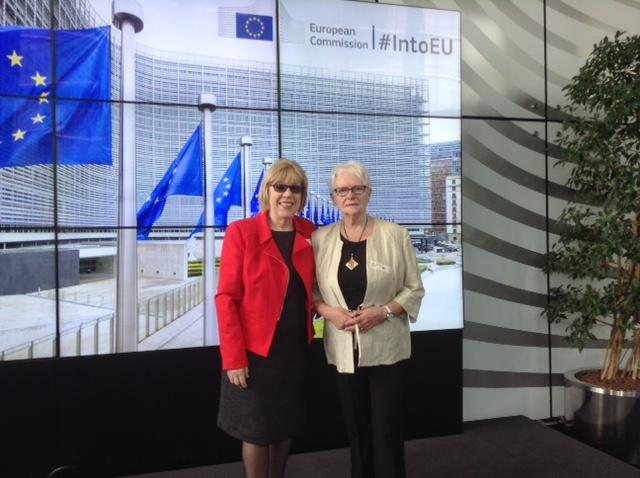 Pair fly the flag for Inverclyde in Brussels
