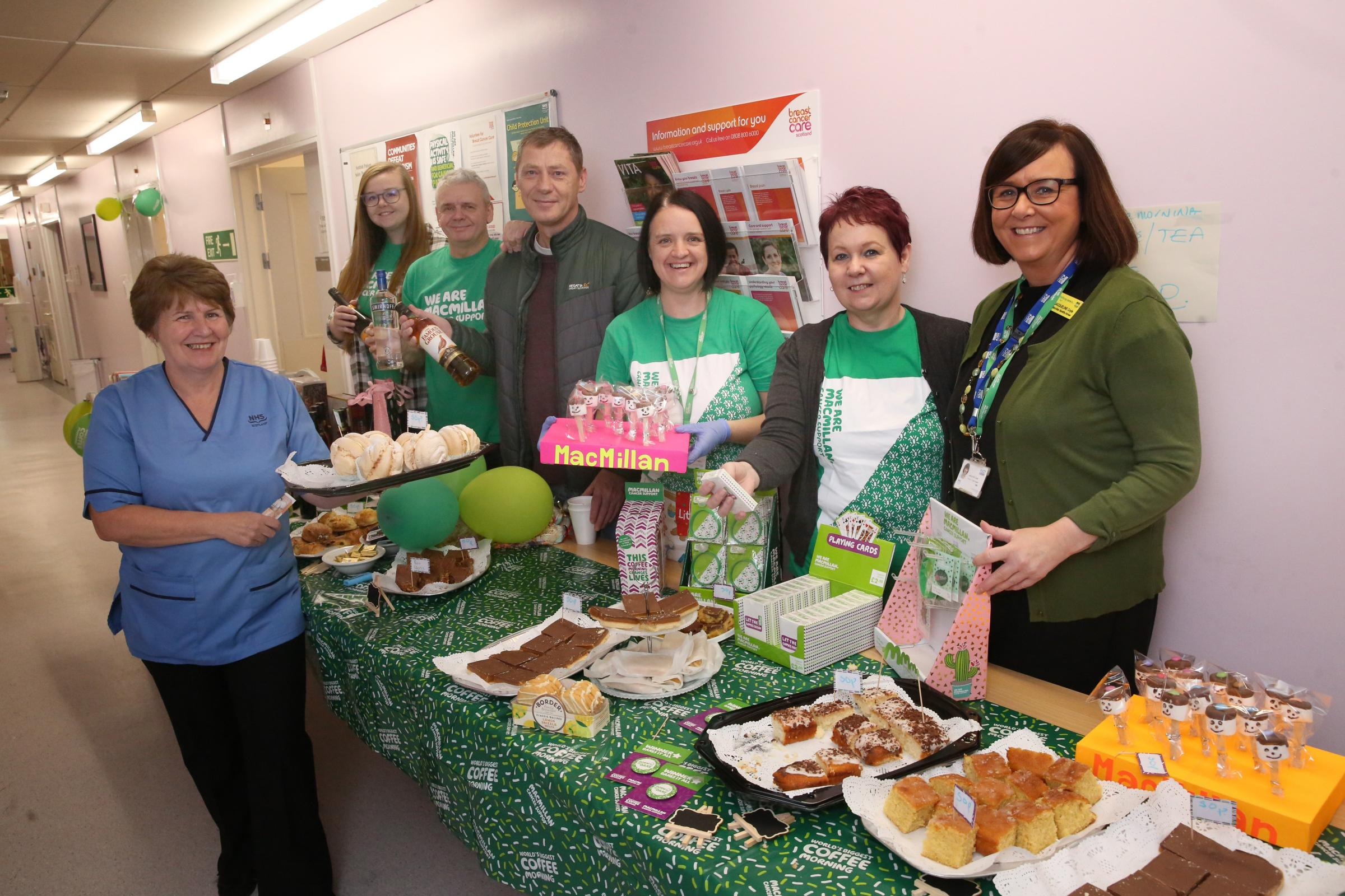 Inverclyde Royal Hospital Oncology ward World's Biggest Coffee Morning.