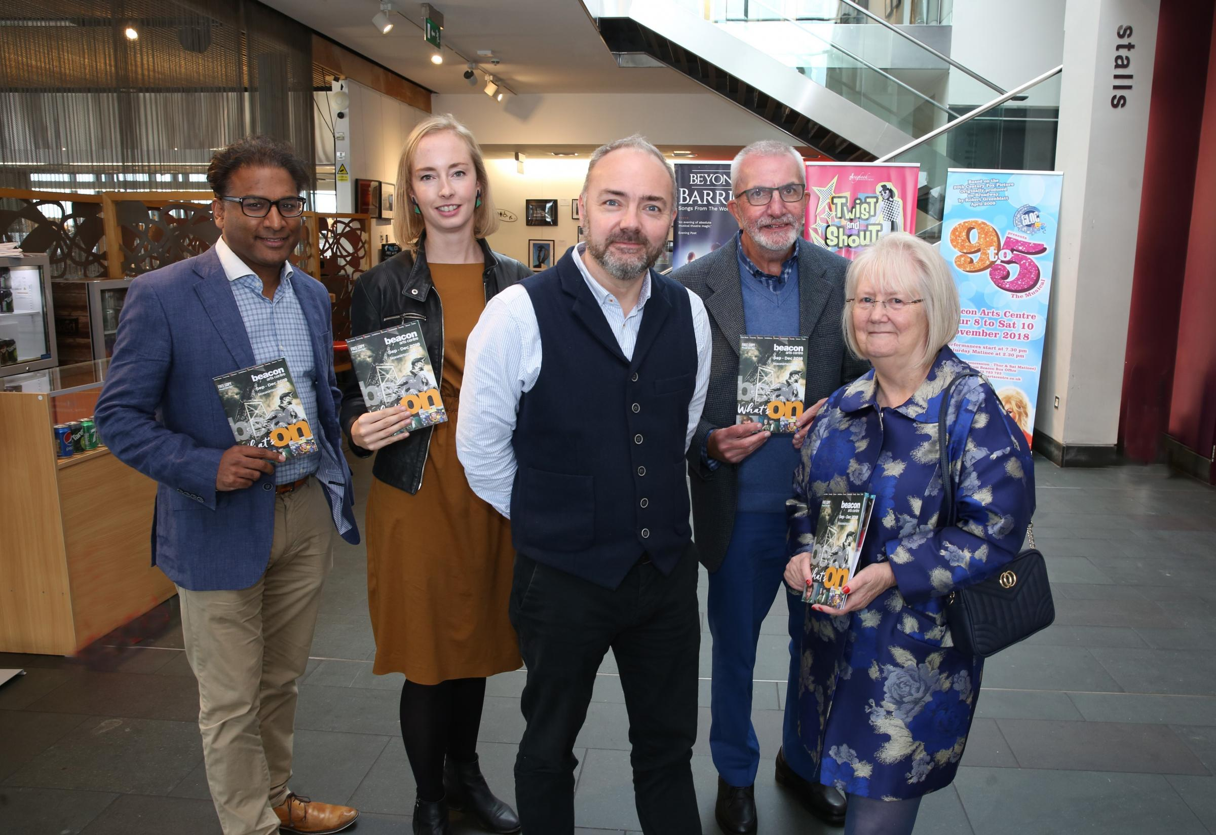 Beacon Arts Centre Greenock new board members. From left, Puneet Gupta, Jo Walmsley, chief executive Sean Paul O'Hare, Gerry Maguire and vice-chair Isabel Lind.