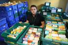 Inverclyde Foodbank in Greenock. Manager Ian Esson.