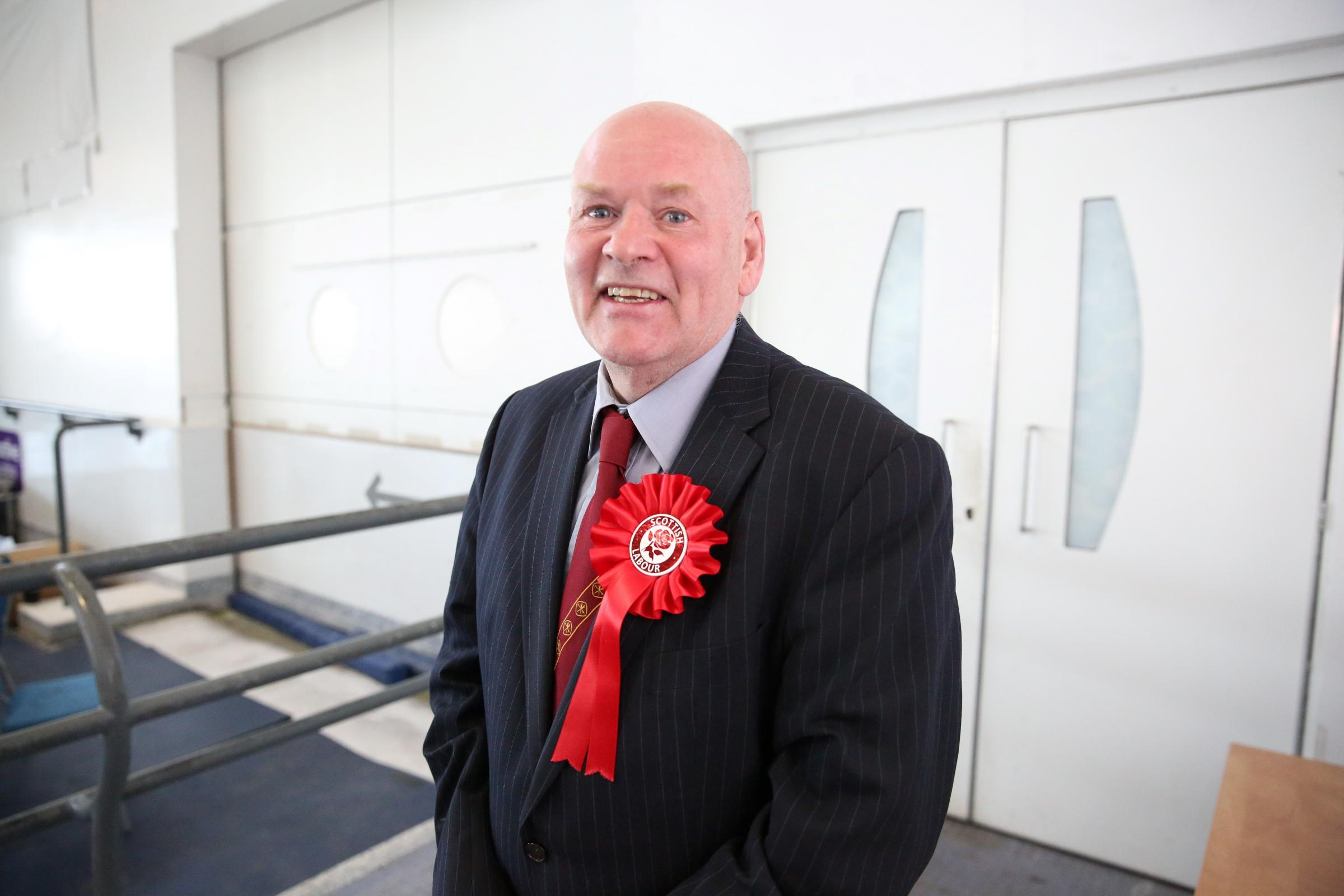 Inverclyde Council election count at the Waterfront Leisure Complex in Greenock. Labour councillor Robert Moran was re-elected.