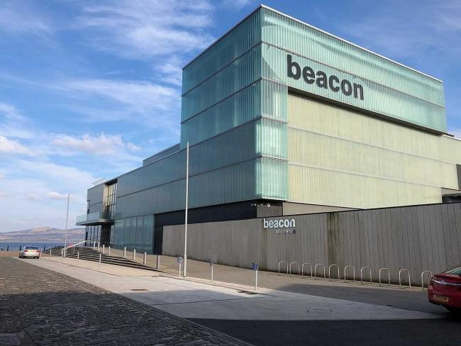 The Beacon Arts Centre will light up purple on Tuesday, March 26
