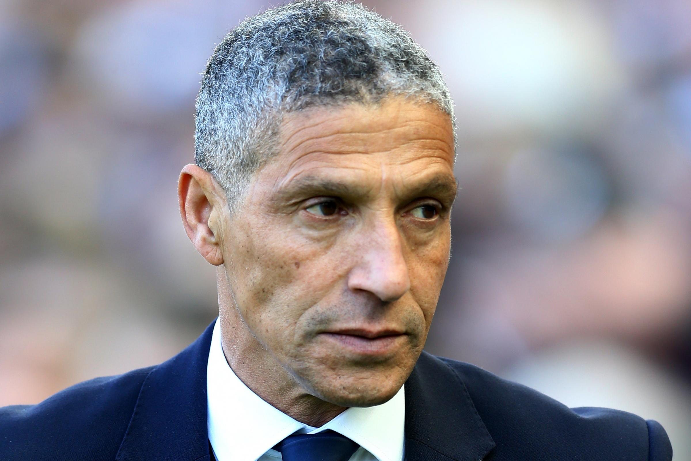 Chris Hughton expects a reaction from Brighton's players