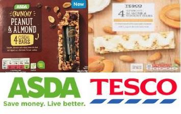 Tesco and Asda cereal bars could contain salmonella