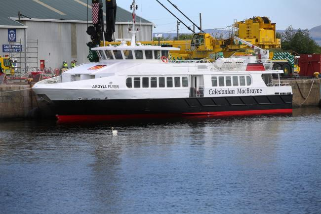 Argyll Flyer returns to water after refurbishment.