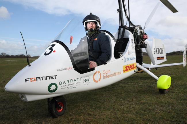 Gyrocopter adventurer flies over coldest place on Earth | Greenock